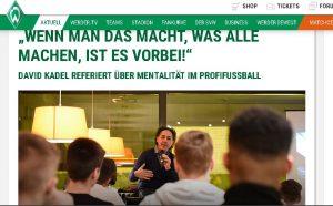 Werder Website Mentalitäts Vortrag